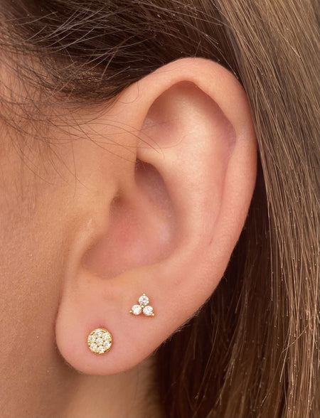 Baby Micropave Studs 14k Gold earrings-studs