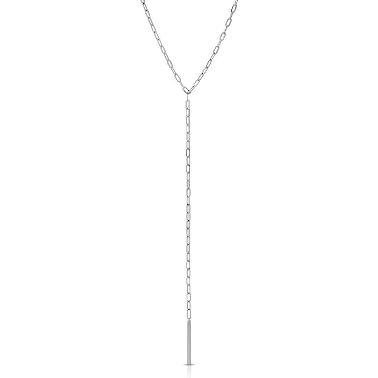 Chain Link Lariat necklace-lariat