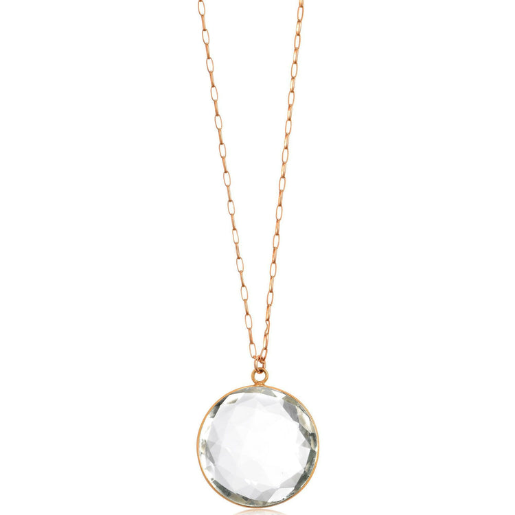 Crystal Medallion Necklace Rose Gold The Treasured Accessory New Arrivals