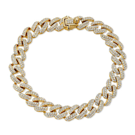 Cuban Chain Link Bracelet Gold bracelet-toggle