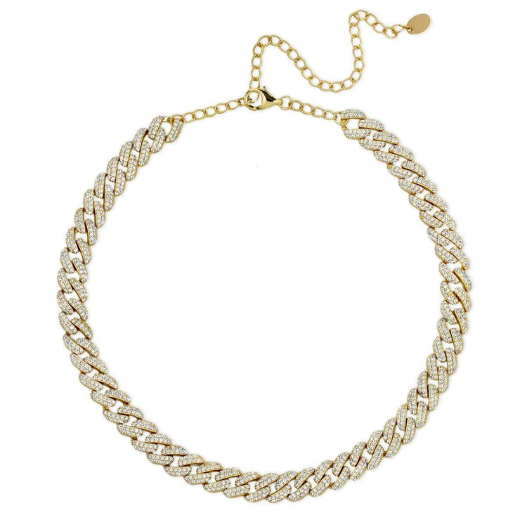 Cuban Chain Link Necklace Gold necklace-short