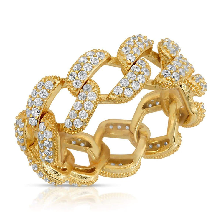 Cuban Chain Link Ring 5 / Gold ring