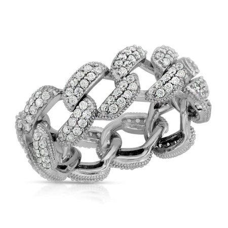 Cuban Chain Link Ring 5 / Rhodium ring