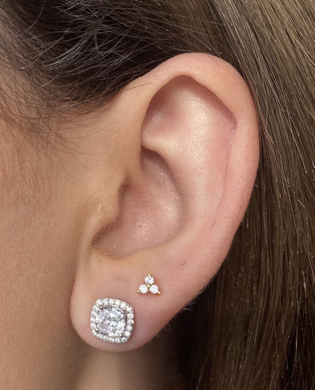 Cushion Cut CZ Earrings earrings-studs