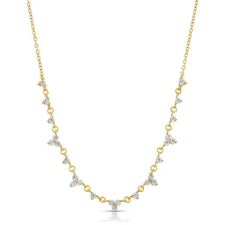 CZ Aurora Necklace Gold necklace-short
