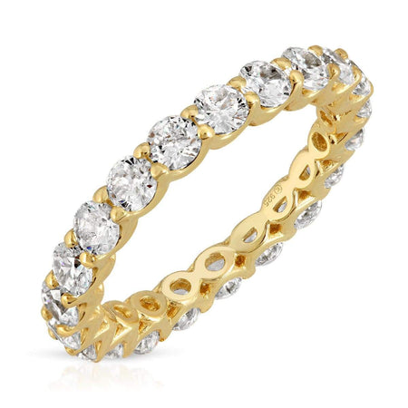 CZ Stackable Ring 5 / Gold ring-stackable