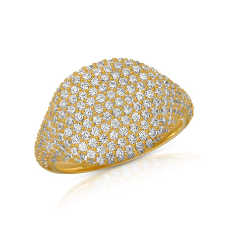 CZ Statement Ring 5 / Gold Plated ring-specialty