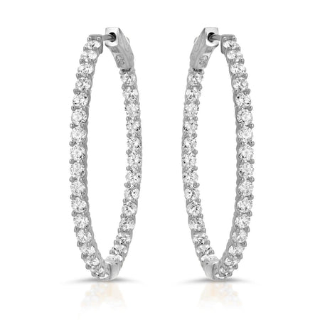 Dani Earrings Rhodium Earrings