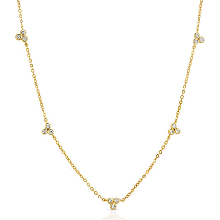 Delicate Cluster Necklace Gold necklace-short
