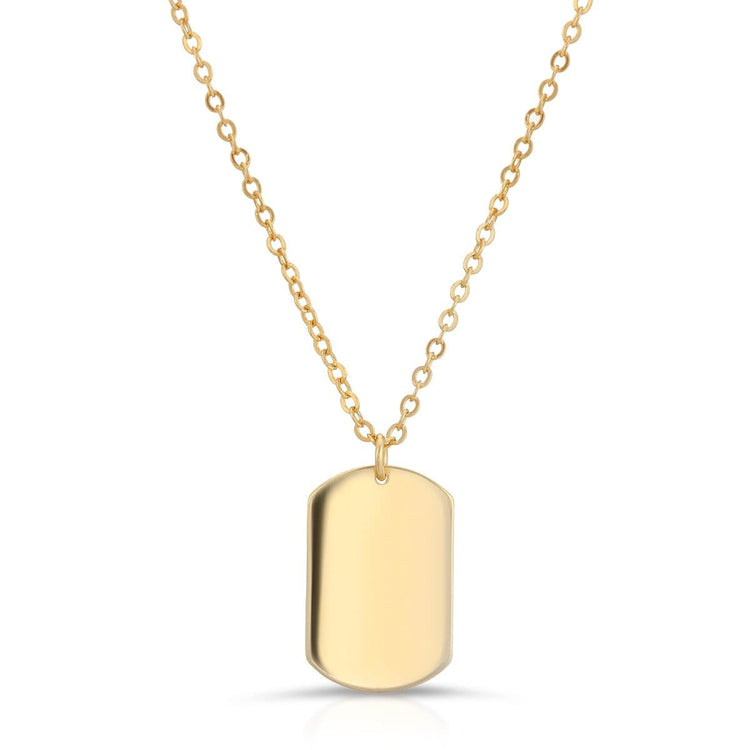 Dog Tag Necklace Gold necklace-short