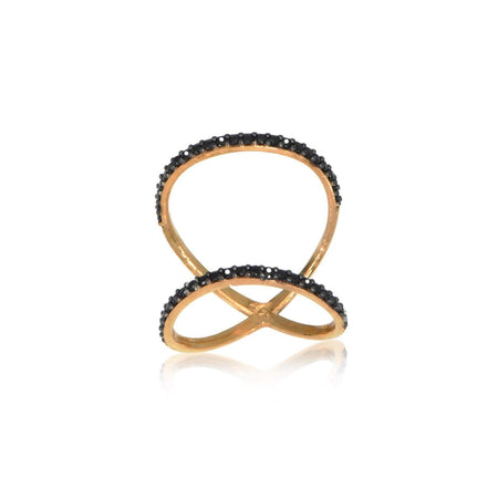 Double Band Black CZ Ring Clearance