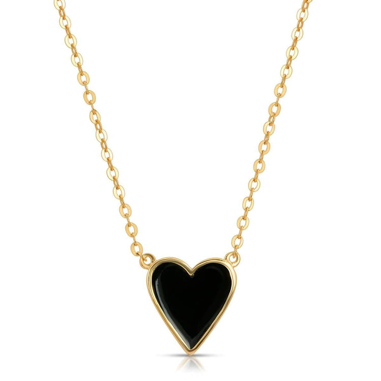 Enamel Heart Necklace necklace-short