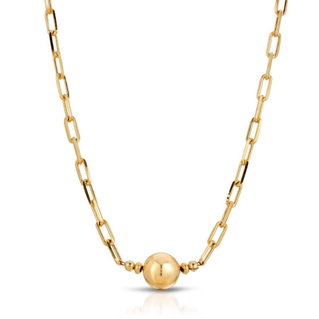 Gold Fill Ball Finding Necklace necklace-long
