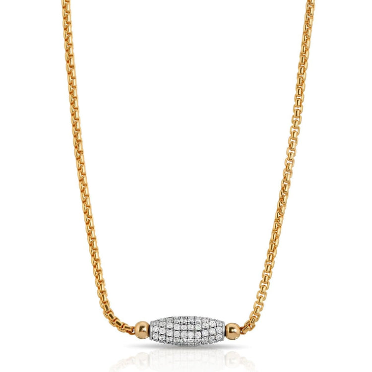 Gold Fill CZ Necklace necklace-short