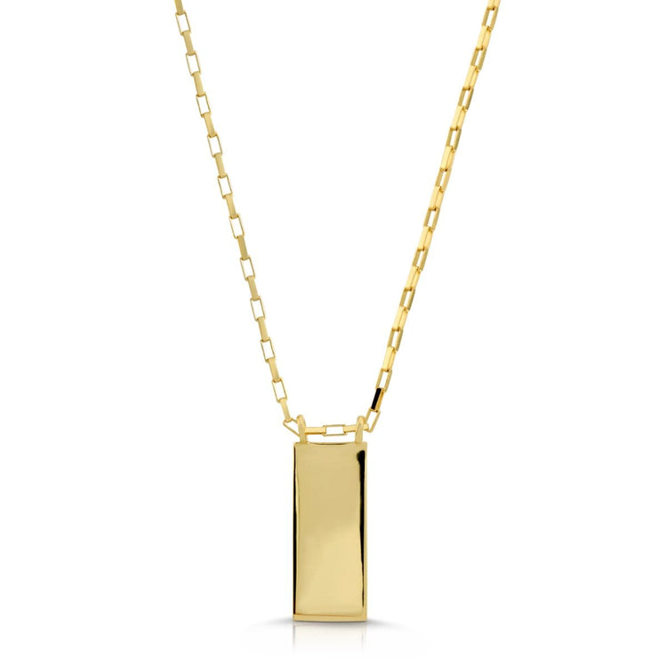 Gold Plate Necklace necklace-short