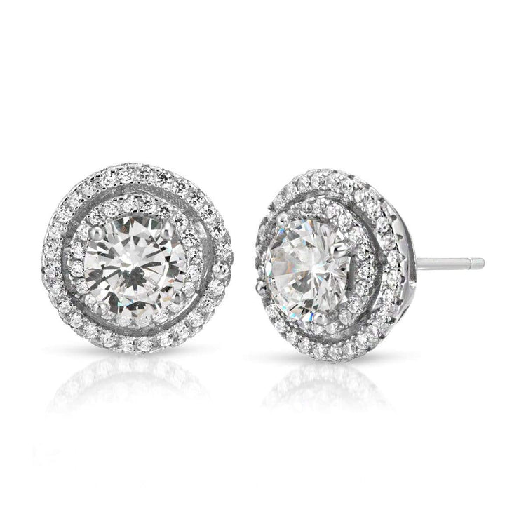 Halo Stud Earrings earrings-studs