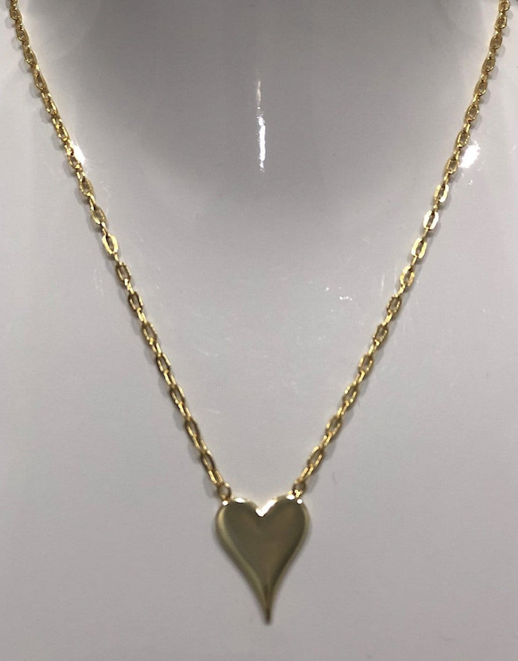 Heart Necklace 14k Gold Plated necklace-short