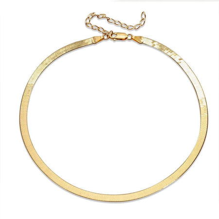 High Shine Extended Liquid Necklace Gold necklace-choker