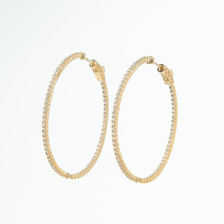 Dana Hoops Gold earrings-hoops
