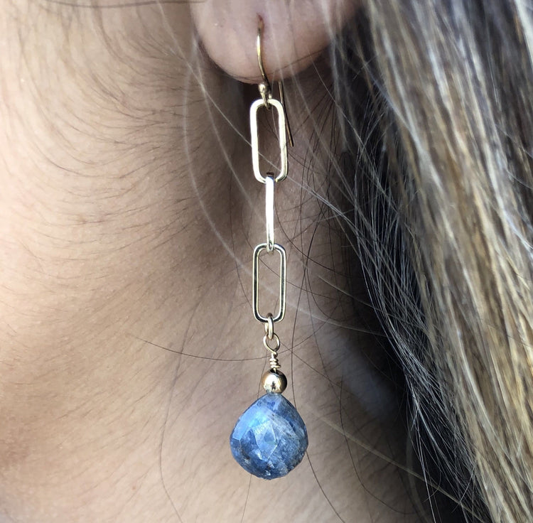 Kyanite Earrings earrings-long