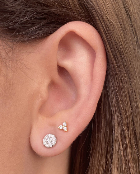 Medium Micropave Studs Rhodium earrings-studs