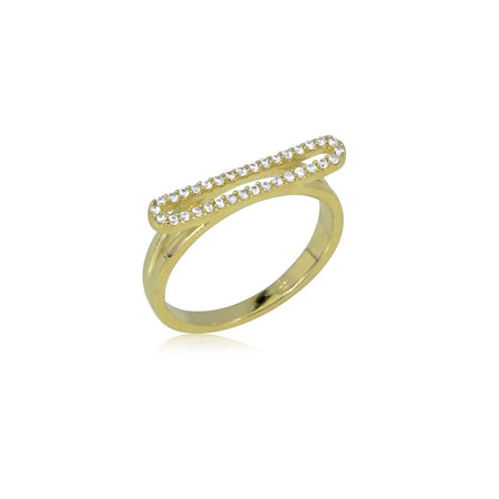 Open Bar Ring 5 / Gold Clearance
