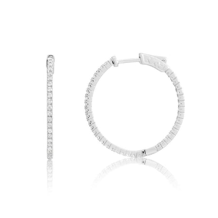 Oval Hoops Medium Earrings-Hoops