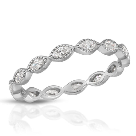 Princess Stackable Ring Rhodium / 5 ring-stackable