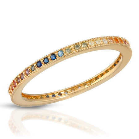 Rainbow Stackable Ring Gold / 5 ring-stackable