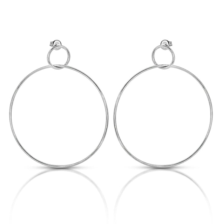 Seeing Double Earrings Rhodium earrings-long