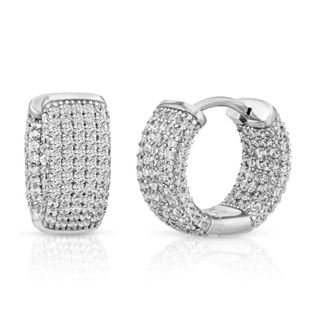 Small Micro Pave Earrings Earrings