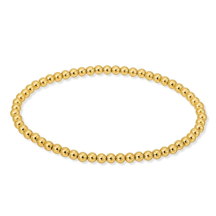 Stretch Bead Bracelet 4mm Gold Fill bracelet-adjustable