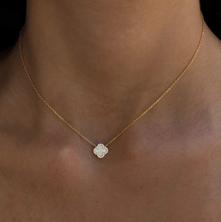 Tiny Mother of Pearl Necklace necklace-short
