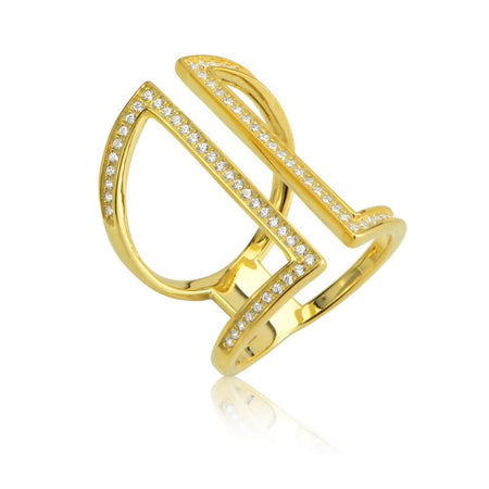 Treasured Cuff Ring 6 / Gold Plated Clearance