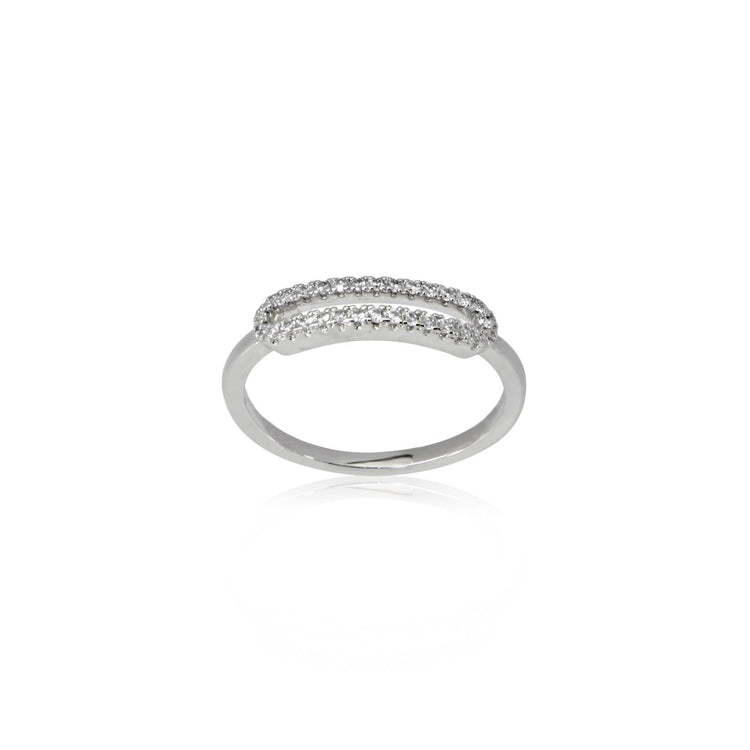Treasured Cut Out Ring Ring-Stackable