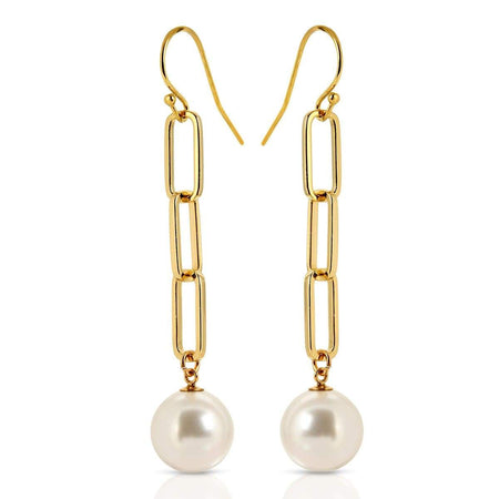 Triple Link Pearl Earrings Earrings