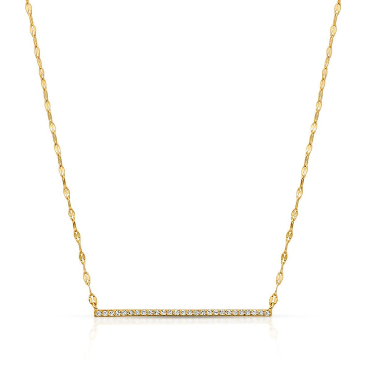 Twinkle CZ Bar Necklace Gold necklace-short