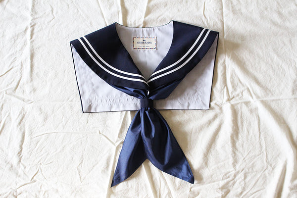 CLASSIC Sailor Collar Navy blue or Wine red
