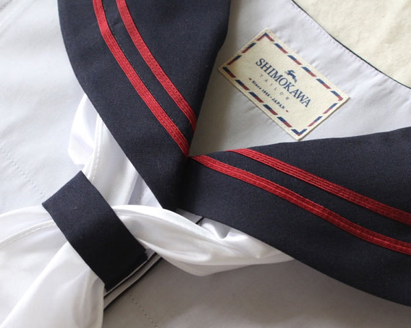 Red Striped Sailor Collar