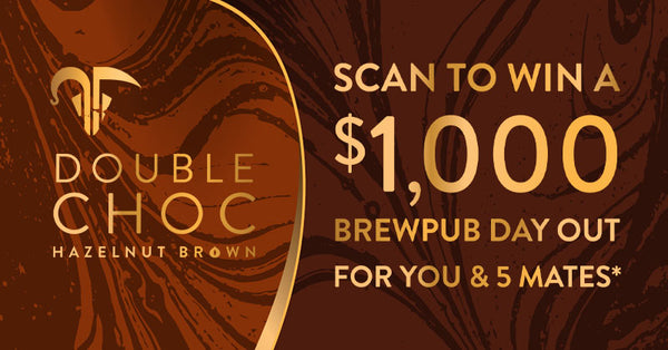 Scan to win $1000 brewpub day out for your and five mates