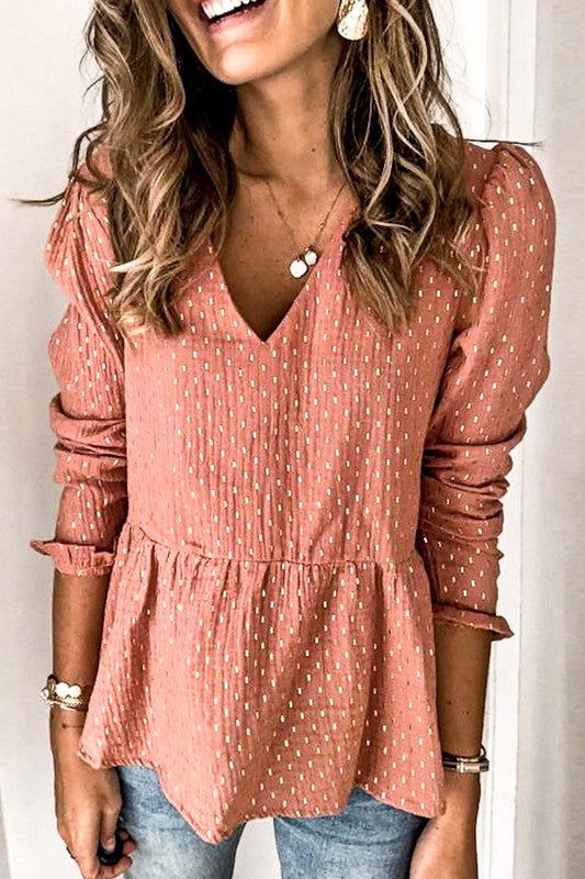Vneck Baby Doll Top