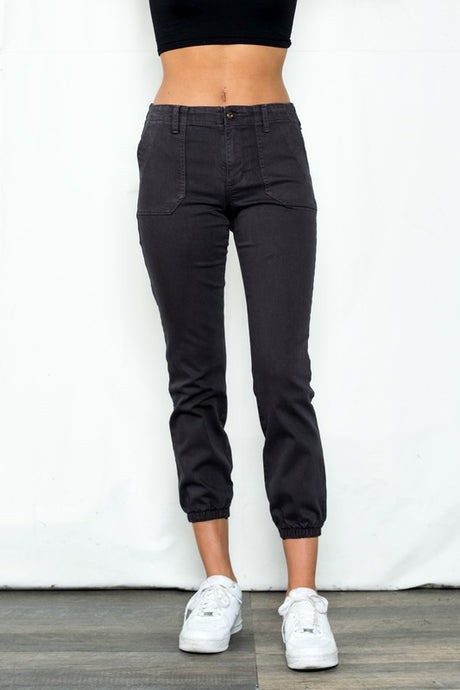 Mid Rise Cargo Jogger Pants
