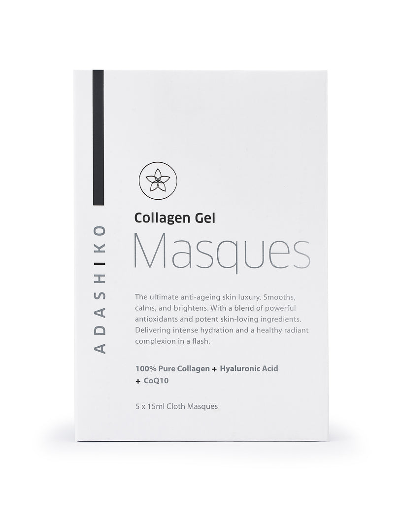 Collagen Gel Cloth Masque Box of 5 Masques | Adashiko Collagen | 100% Natural Skin Care