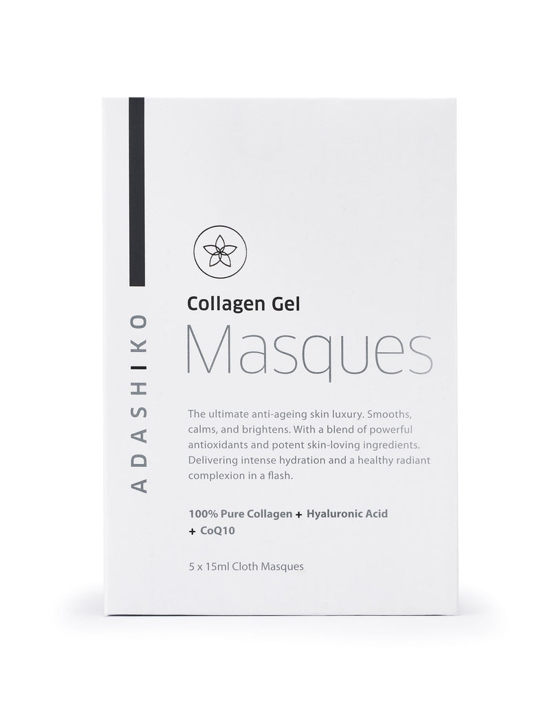 Adashiko Collagen Gel Cloth Masques box of 5 | Adashiko Collagen | 100% Natural Skin Care