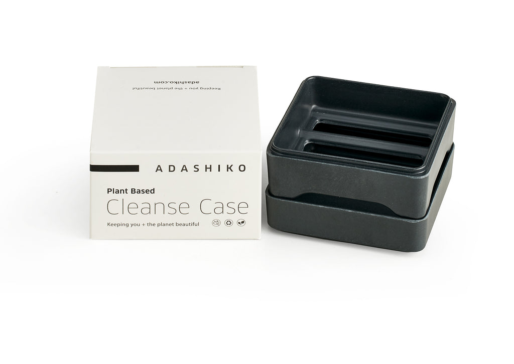 Collagen Cleanse Storage Case & Box sitting side by side | Adashiko Collagen | 100% Natural Skin Care