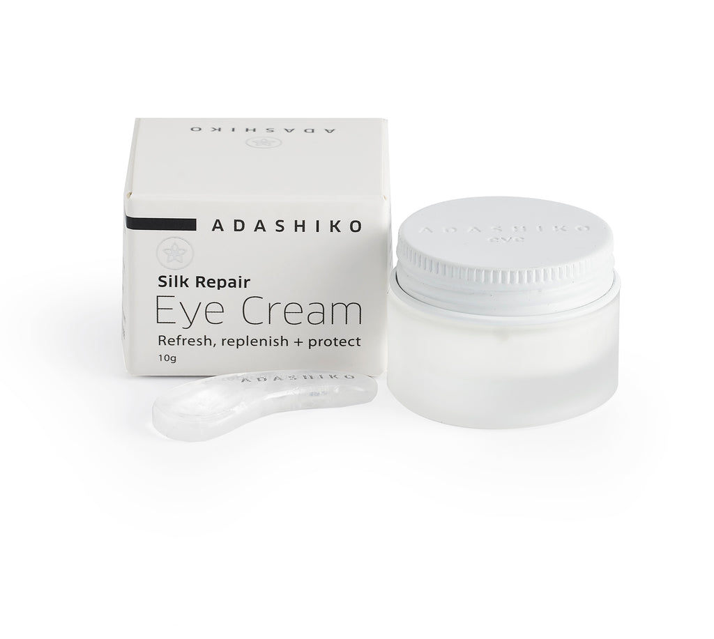 Silk Repair Eye Cream - Jar, Spatula, & Box | Adashiko Collagen | 100% Natural Skin Care