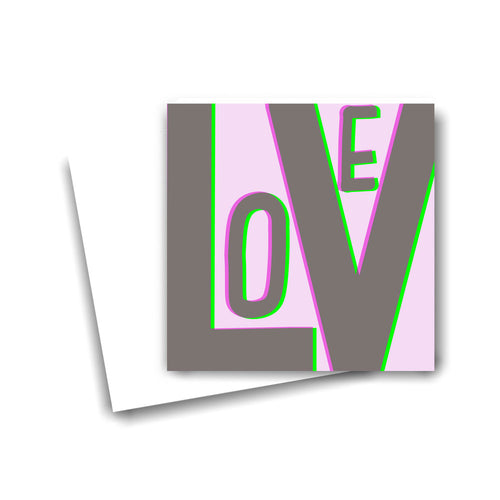 Love on a Hologram Card