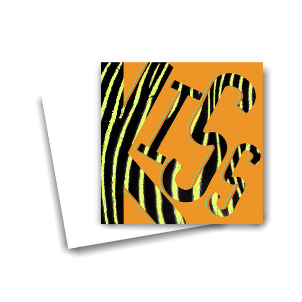 Kiss on Sunset Zebra Card