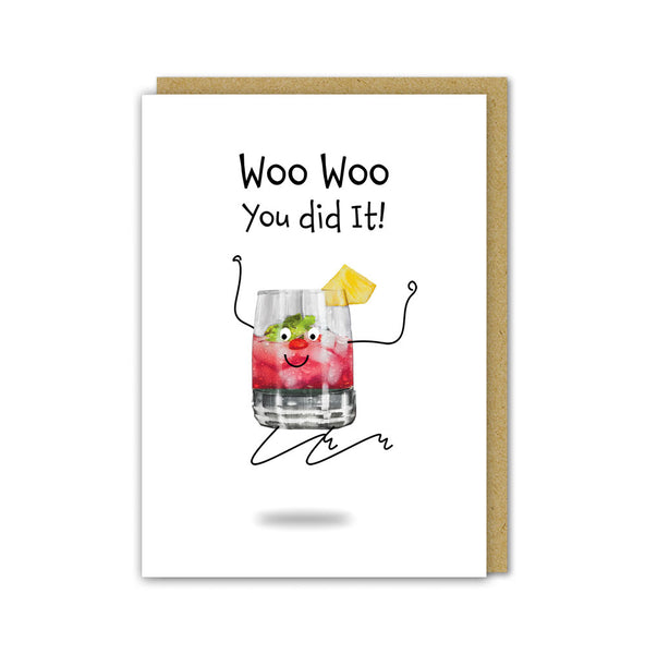 Woo Woo Well Done Card
