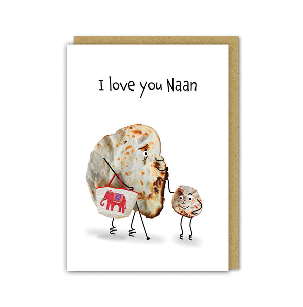 I Love You Naan Card